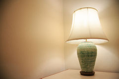 Vintage lamp on the room, Romantic feeling in private room, Interior equipment of house Stock Image