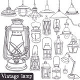 Vintage lamp set Stock Photo
