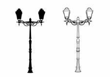 Vintage lamp shade. Vector illustration of vintage lamps, EPS 8 file Vector Illustration