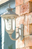 Vintage lamp on a wall Royalty Free Stock Photo