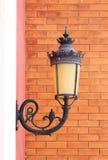 Vintage lamp wall Stock Photos