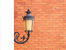 Vintage lamp wall Stock Photography
