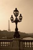 Vintage lamppost on the bridge of Alexandre III Stock Photography