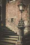 Vintage lamppost in Gdansk, Poland Stock Images