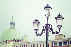 Vintage lamppost in Venice, Italy Stock Images