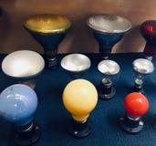 Vintage lamps colours. Vintange l amps bulbs royalty free stock photo