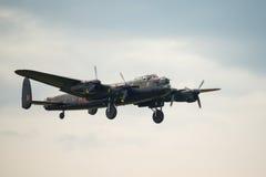 Vintage Lancaster bomber. Battle of Britain flight. Stock Photography