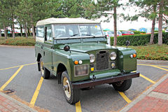 Vintage land rover jeep Stock Image