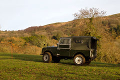 Vintage Land Rover trials Stock Photography