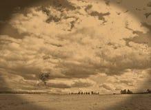 Vintage landscape. Old retro landscape made from my own image Stock Image