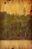 Vintage landscape. Grunge digital collage , vintage  landscape Stock Images