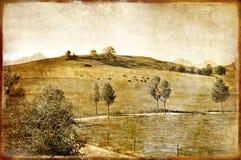 Vintage landscape stock illustration