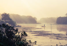 Vintage landscape nature and river background Royalty Free Stock Image