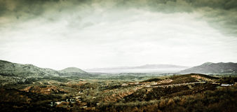 Vintage landscape in Peloponnese Royalty Free Stock Images