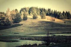 Vintage landscape. Royalty Free Stock Photos
