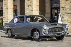 Vintage lanfia flaminia 2.8 coupe silver Royalty Free Stock Photos