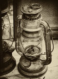 Vintage lantern. Image including a vintage lantern Royalty Free Stock Photography