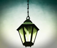 Vintage lantern. The antique lantern, street lamp Royalty Free Stock Photos