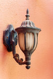 Vintage lantern in Arabic style on the wall Royalty Free Stock Photos