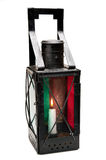 Vintage lantern with candle inside Royalty Free Stock Images