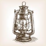 Vintage lantern sketch vector illustration Stock Image