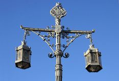 Vintage Lantern in Toledo Royalty Free Stock Images