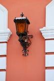 Vintage lanterns on a wall royalty free stock photos