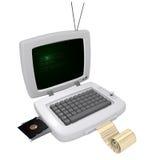 Vintage laptop Royalty Free Stock Image