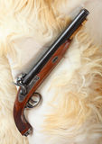 Vintage large-bore pistol. Royalty Free Stock Image