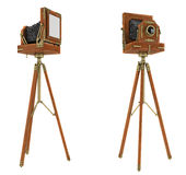 Vintage large format camera isolated Royalty Free Stock Image