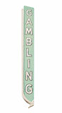 Vintage Las Vegas Gambling Sign With Clipping Path. An old casino gambling sign located on the old Las Vegas strip. Isolated with a clipping path Royalty Free Stock Photography
