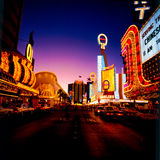 Vintage Las Vegas. Mid to late 60's image of Downtown Old Las Vegas. (Image taken from a color slide stock image