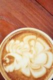 Vintage latte art coffee Stock Photo