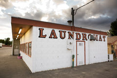 Vintage Laundromat. An old laundromat in a small town royalty free stock images