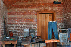 Vintage laundry room, Fort Clinch Stock Image