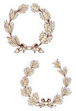 Vintage laurel wreathes Royalty Free Stock Images