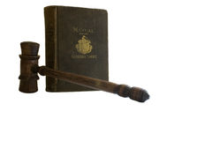 Vintage law book and gavel; General Court Royalty Free Stock Images