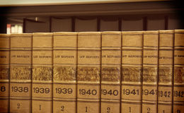 Vintage Law Books. Row of vintage law books 1930\'s through 1940\'s Stock Images