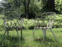 Vintage Lawn Chairs Stock Photo