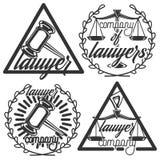 Vintage lawyer emblems Royalty Free Stock Photos