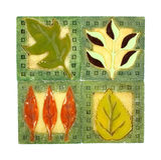 Vintage Leaf Coasters Square Stock Images