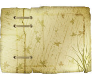 Vintage Leaf Pattern Paper. Vintage paper with leaves, grass and bark pattern Stock Image