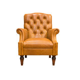 Vintage leather armchair. Isolated on white Stock Images
