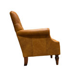 Vintage leather armchair. Isolated on white Stock Photography