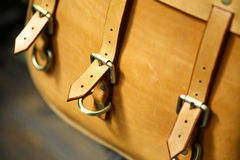 Vintage leather bag Stock Photography