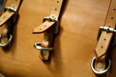 Vintage leather bag Stock Photo