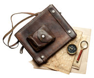 Vintage leather bag Royalty Free Stock Photos