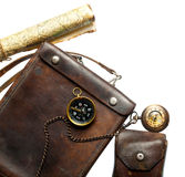 Vintage leather bag isolate on a white background Royalty Free Stock Image