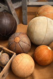 Vintage Leather Balls stock photography