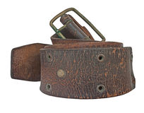 Vintage leather belt Stock Images